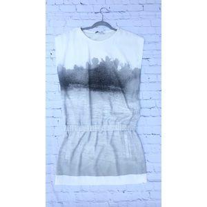 DVF splatter dress low waist pockets size 8